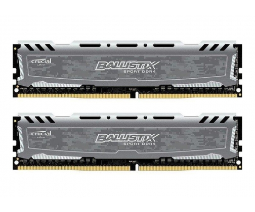 Pamięć RAM Crucial 16GB 2400MHz Ballistix Sport LT Gray CL16