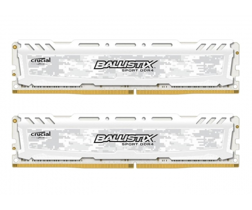 Pamięć RAM DDR4 Crucial 16GB 2666MHz Ballistix Sport LT White CL16