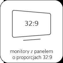 monitory o proporcjach ekranu 32:9