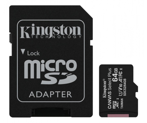 Kingston 64 GB microSDHC Canvas Select Plus