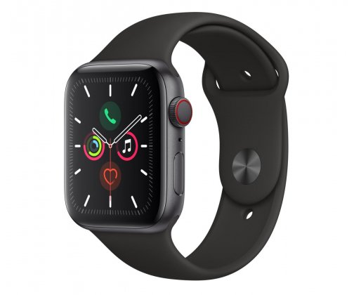 Apple Watch 5 44/Space Gray Aluminium/Black Sport LTE