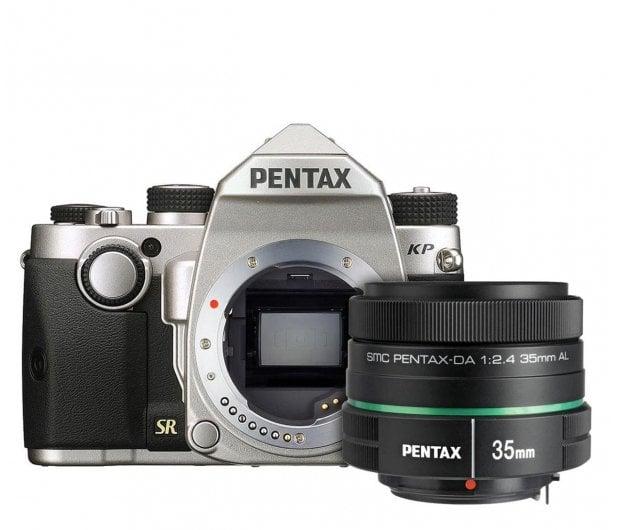Pentax KP srebrny + DA 35mm F2.4