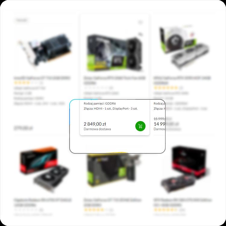 dostępność kart graficznych w sklepie